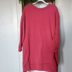 GAP Pink Pullover Sweatshirt Dress